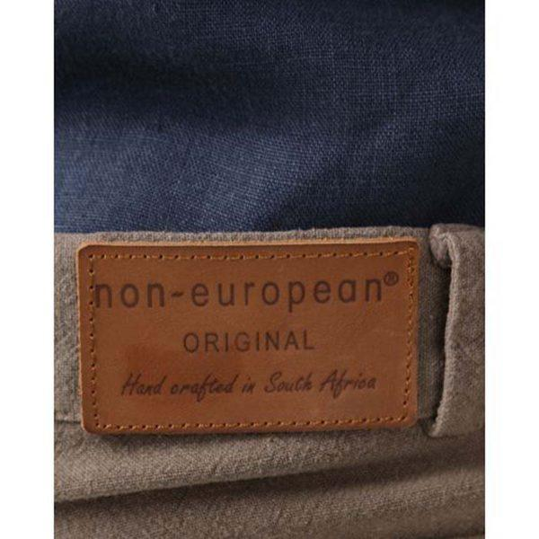 Male Linen Short - Taupe - Back detail