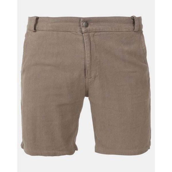 Male Linen Short - Taupe - Front
