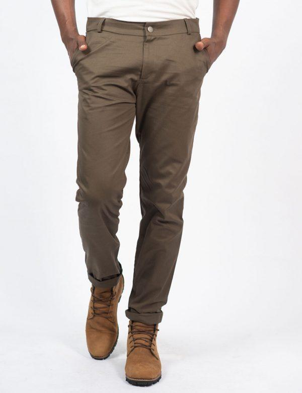 Male Cotton Skinny - Olive - Front 2
