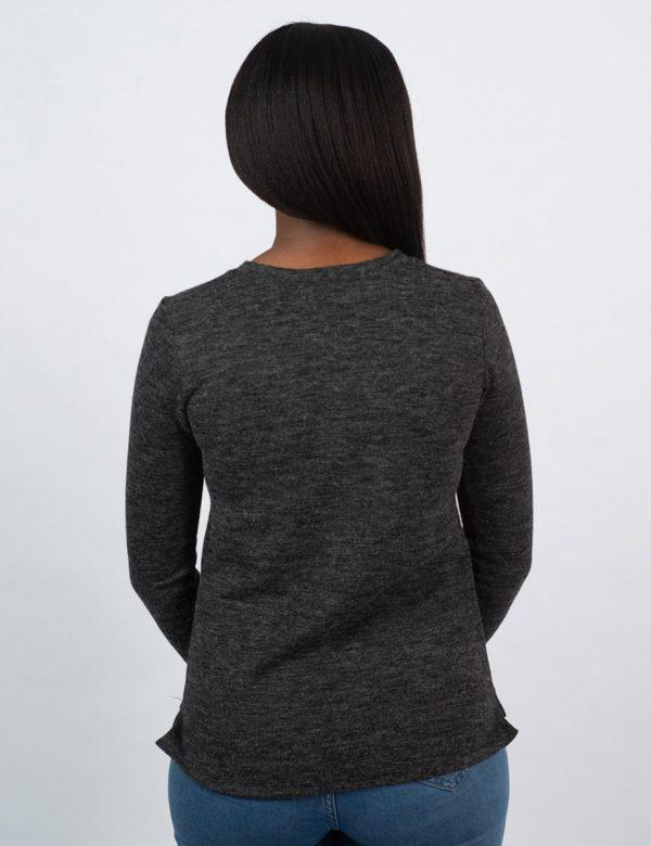 Slouchy Jersey - Charcoal Mohair - Back