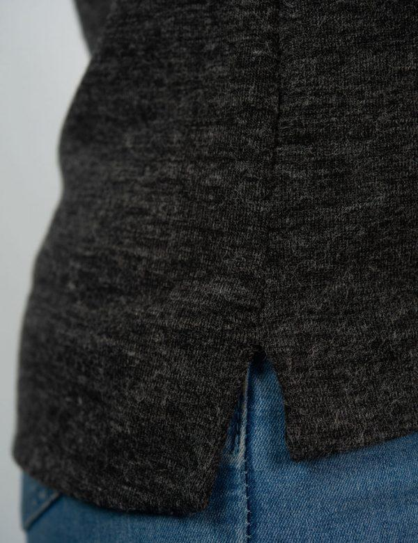 Slouchy Jersey - Charcoal Mohair - Detail