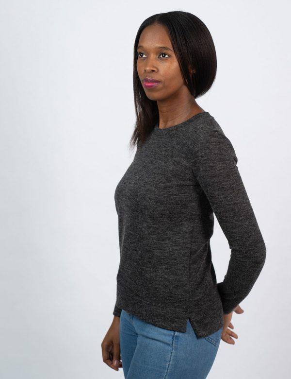 Slouchy Jersey - Charcoal Mohair - Side