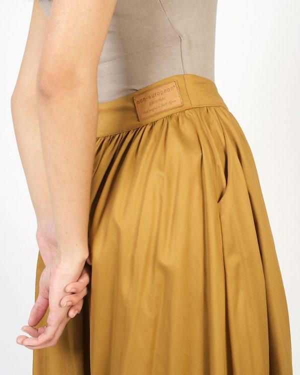 Buttoned Waistline Skirt - Hazel - Back detail