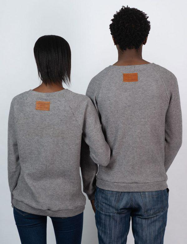Unisex Jersey - Grey Melange Knit - Back