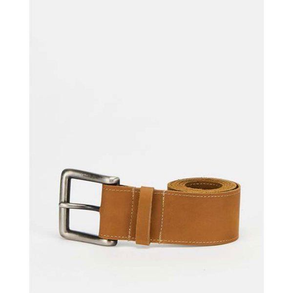 Chunky Leather Belt - Cuppuccino&Br Ant Nickel - Front