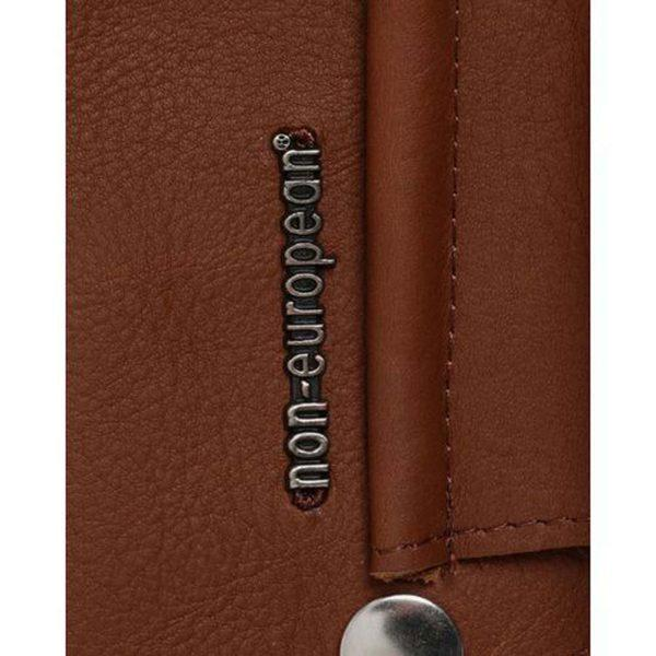 Clip On Pouch - Light Brown & Silver - Detail