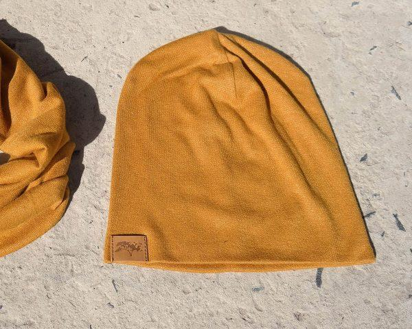 High Top Beanie - Gold - Front