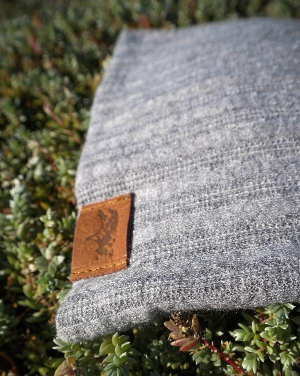 High Top Beanie - Grey Melange Cable Knit - Detail 2