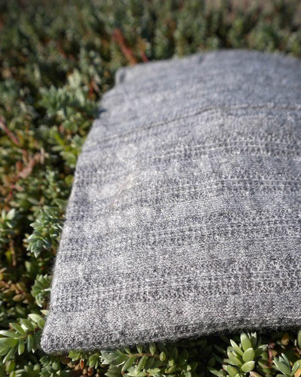 High Top Beanie - Grey Melange Cable Knit - Detail 3