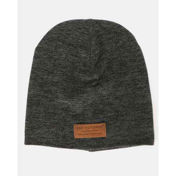 High Top Beanie - Black Melange - Front