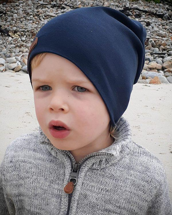 Kids Beanie - Teal - Front