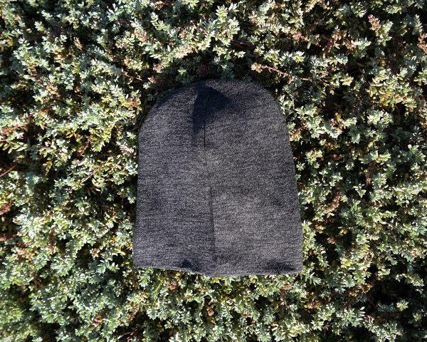 Kids Beanie - Black Melange - Back