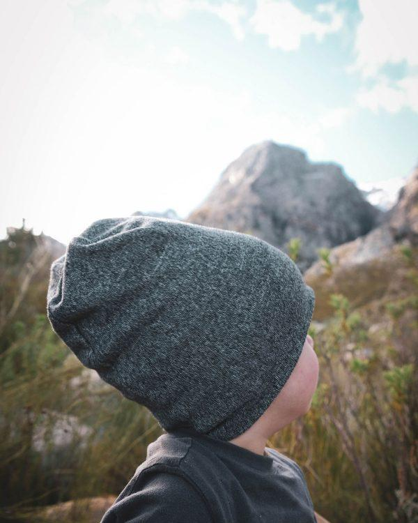 Kids Beanie - Grey Melange - Back