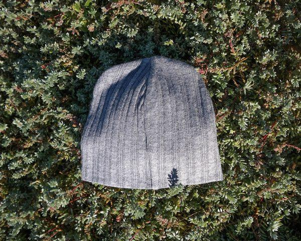 Baby Beanie - Grey Melange Cable Knit - Back