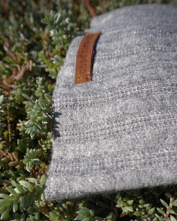 Baby Beanie - Grey Melange Cable Knit - Detail