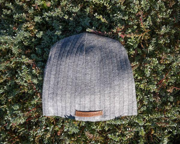 Baby Beanie - Grey Melange Cable Knit - Front