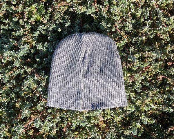 Baby Beanie - Grey Melange Knit - Back