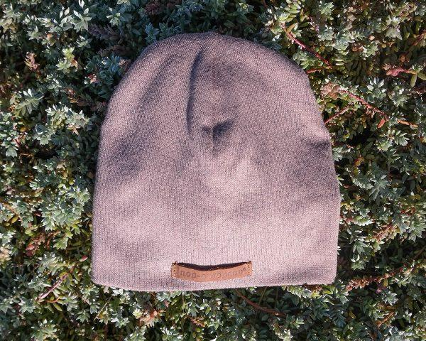 Baby Beanie - Taupe Melange - Front