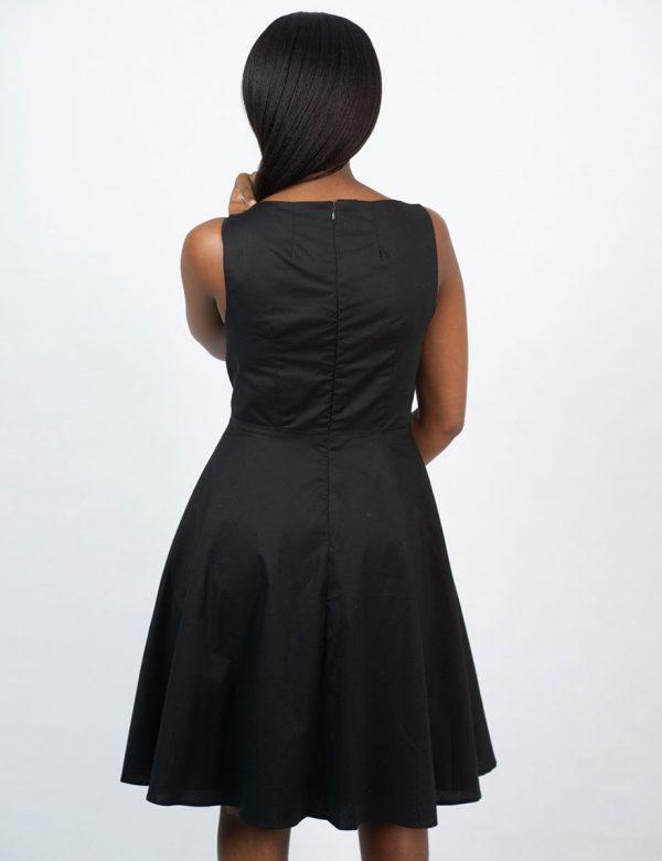 Twist Dress - New Black- Back