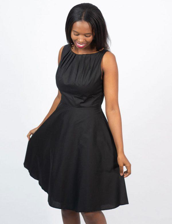 Twist Dress - New Black- Front