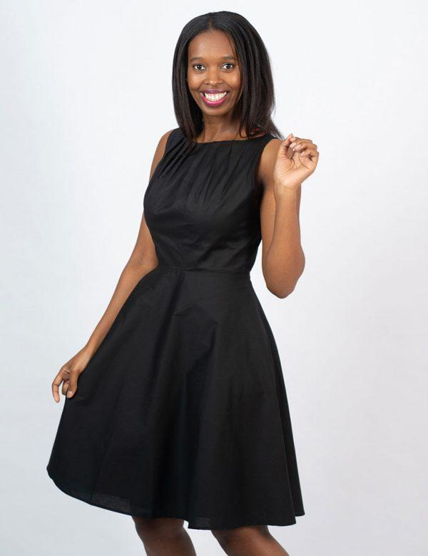 Twist Dress - New Black- Lifestyle shot