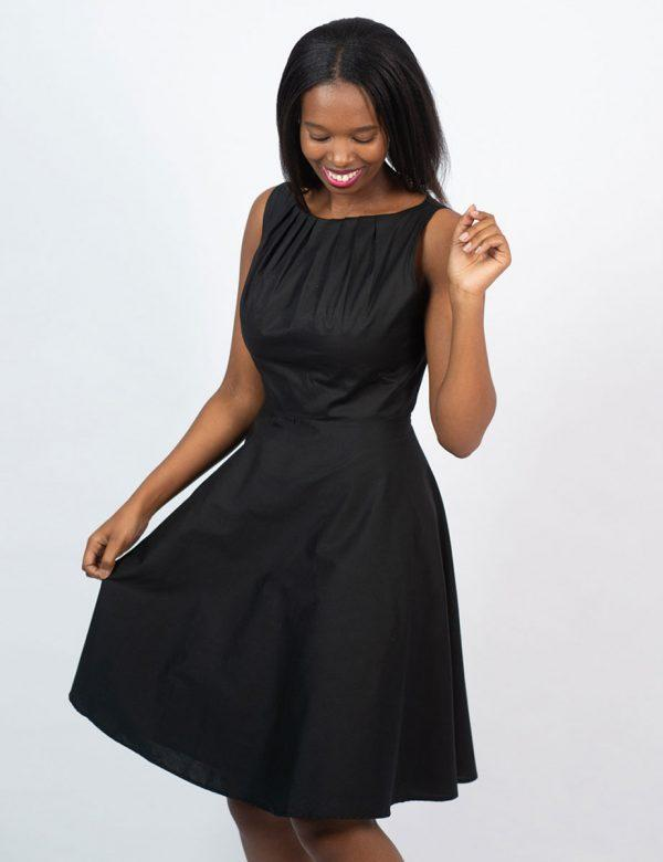 Twist Dress - New Black- Side