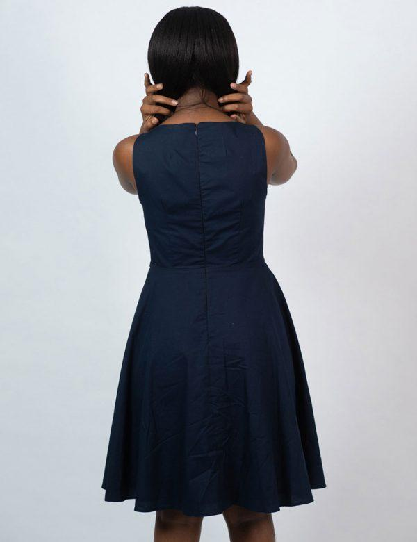 Twist Dress - New Navy - Back