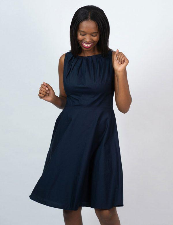 Twist Dress - New Navy - Front