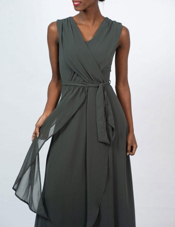 Bridesmaid Gown - Dark Olive - Detail