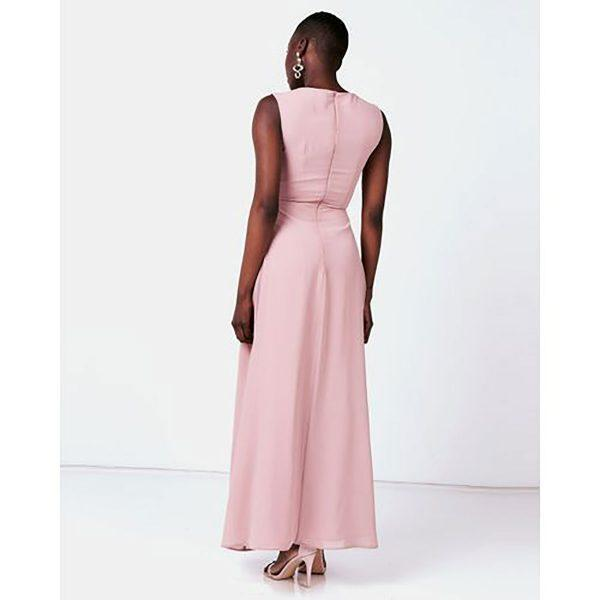 Bridesmaid Gown - Misty Rose - Back
