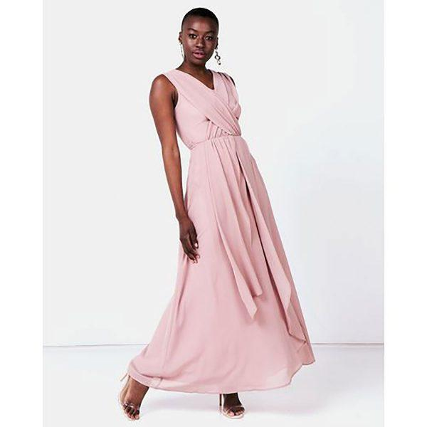 Bridesmaid Gown - Misty Rose - Front