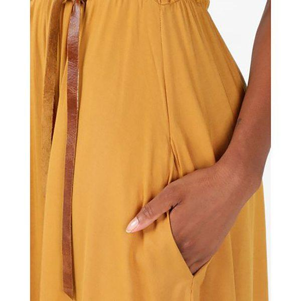 Casual Dress - Ocher - Detail 2