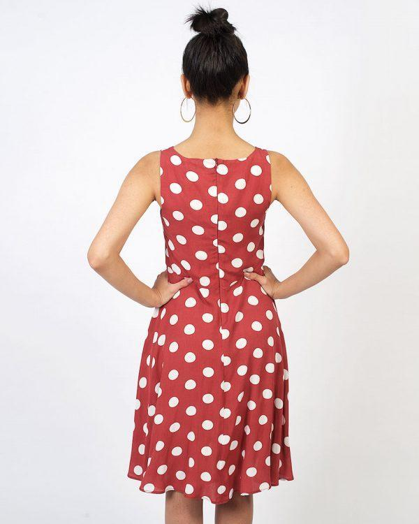New Twist - Rose Tan Polka - Back