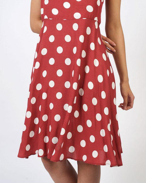 New Twist - Rose Tan Polka - Detail