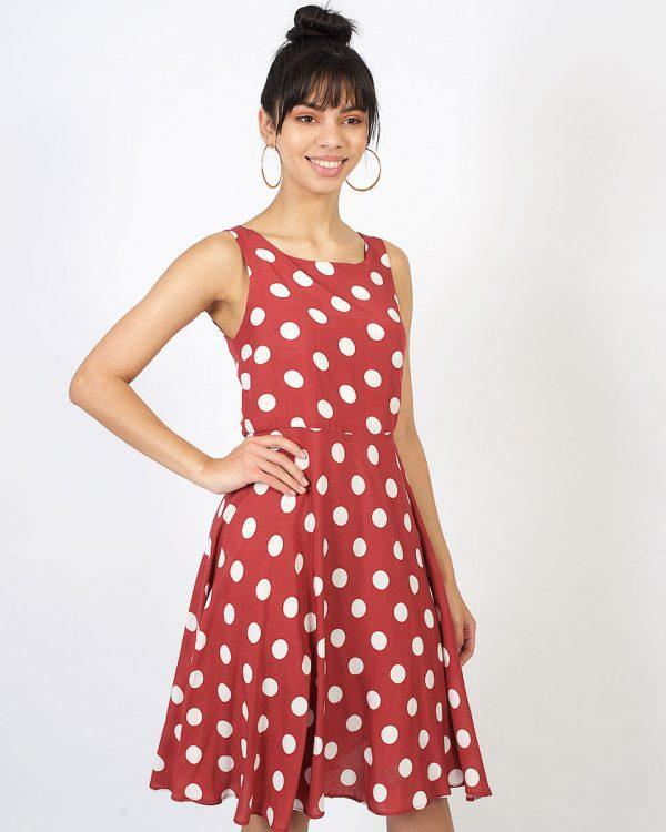 New Twist - Rose Tan Polka - Front 1