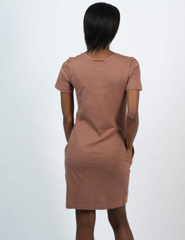 Tee Dress - Rose Taupe - Back
