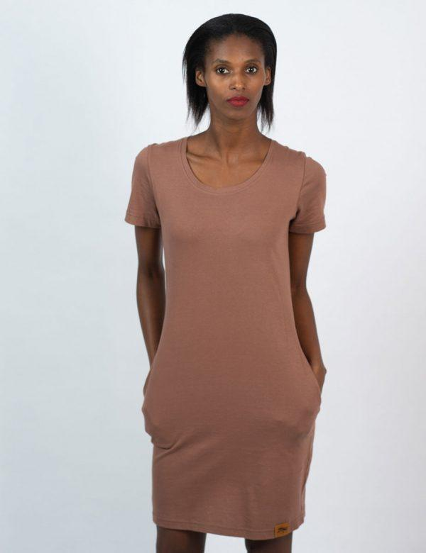 Tee Dress - Rose Taupe - Front