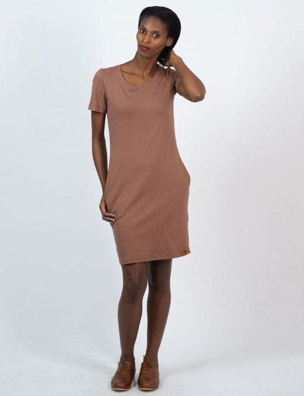 Tee Dress - Rose Taupe - Lifestyle shot