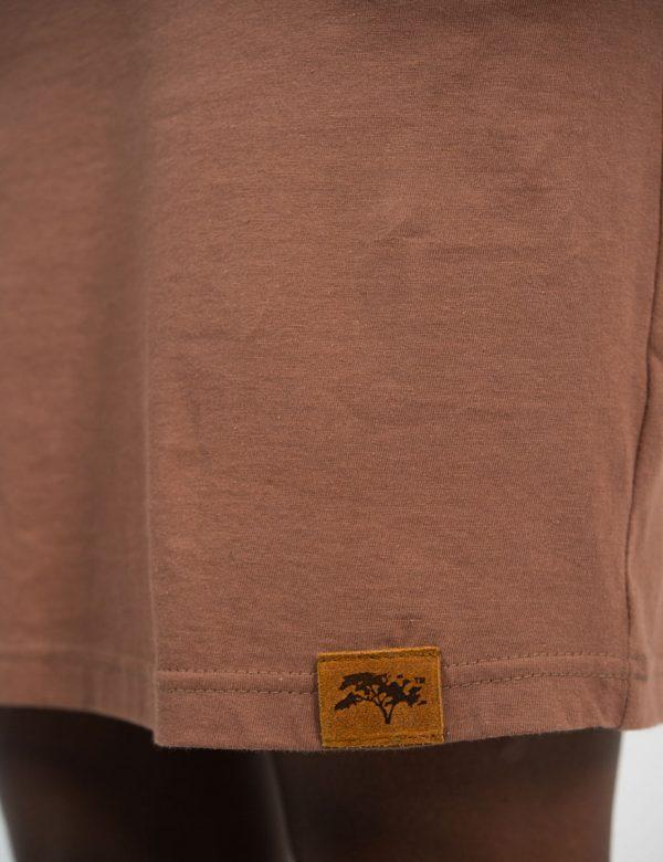 Tee Dress - Rose Taupe - Side detail