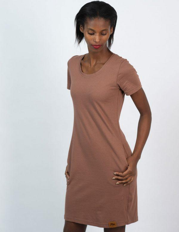 Tee Dress - Rose Taupe - Side front