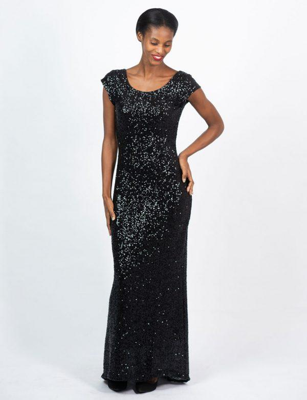Elegant Evening Gown - Galaxy - Front