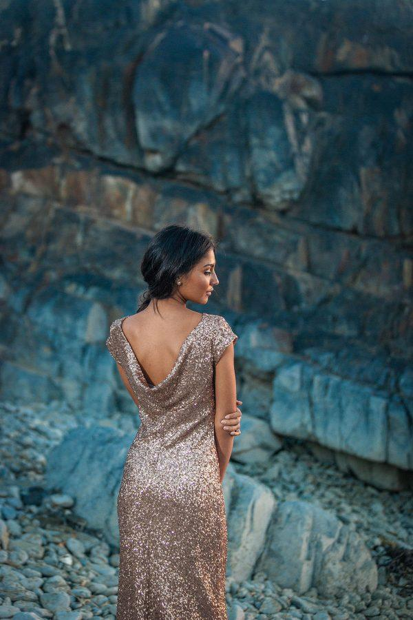 Elegant Evening Gown - Luminescent - Back 1