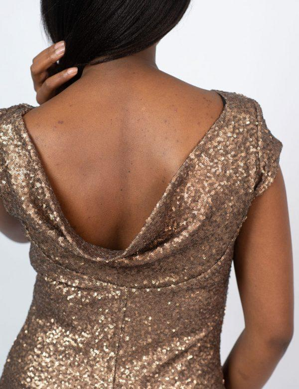 Elegant Evening Gown - Yesteryear - Back detail