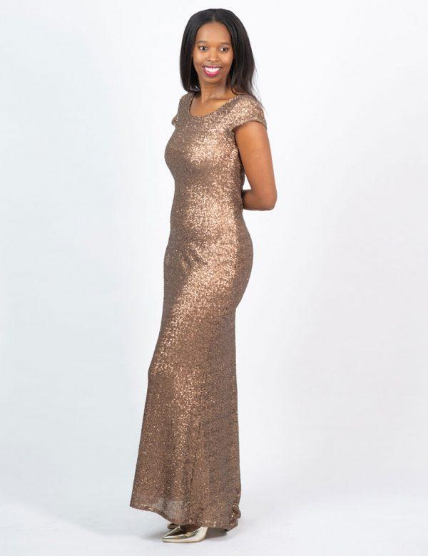 Elegant Evening Gown - Yesteryear - Side