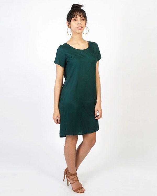Trendy Tee Dress - Bottle Green - Lifestyle shot