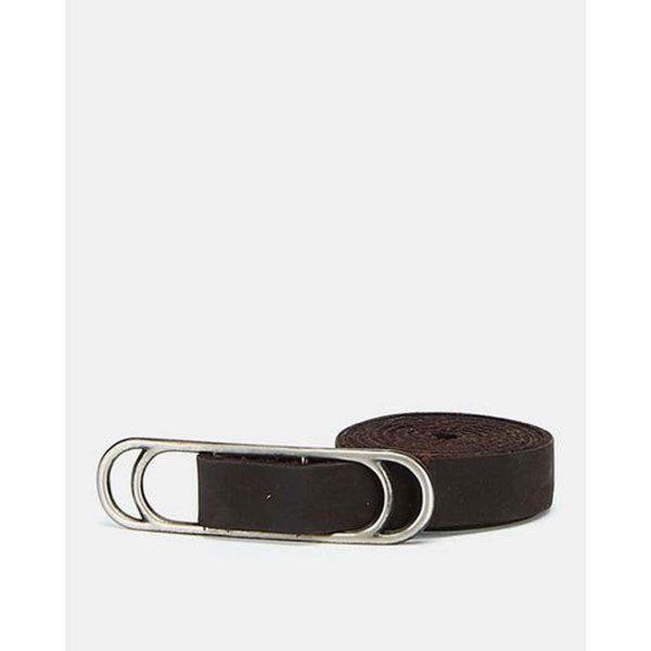 Slider Belt - Dark Brown&Br Ant Nickel - Front