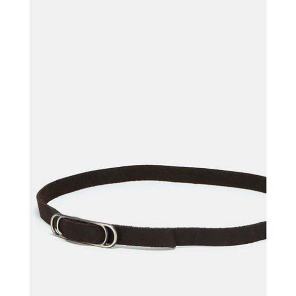 Slider Belt - Dark Brown&Br Ant Nickel - Lifestyle shot