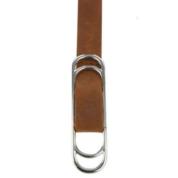 Slider Belt - Tan&Silver - Detail 1