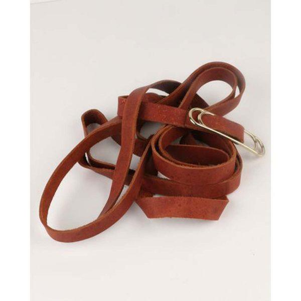 Wraparound Slider Belt - Dark Tan&Gold - Detail
