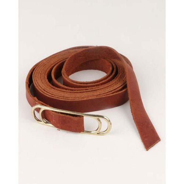 Wraparound Slider Belt - Dark Tan&Gold - Front detail